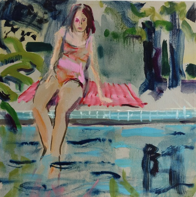 , 'By the Pool,' 2018, parts gallery