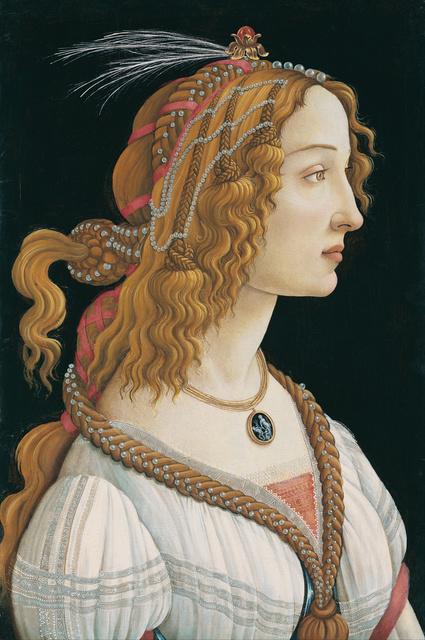 , 'Idealized Portrait of a Lady (Portrait of Simonetta Vespucci as Nymph),' ca. 1475, Legion of Honor