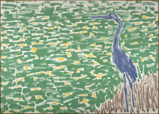 , 'Blue Heron, Yellow Lillies (91-11),' 1991, Berry Campbell Gallery