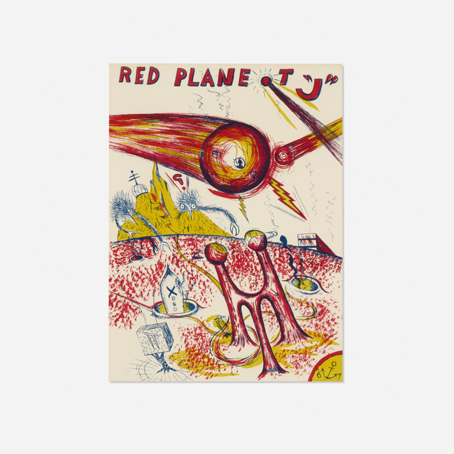 H.C. Westermann, 'Red Planet J', 1967, Print, Lithograph on paper, Rago/Wright