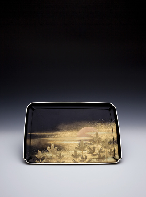 , 'Incense Tray with New Year's Sunrise and Moon,' Showa era (1926, 89), ca. 1926, 1935, Erik Thomsen