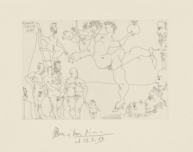 Pablo Picasso, 'Plate 4, from: El Entierro del Conde de Orgaz', 1966, Christie's