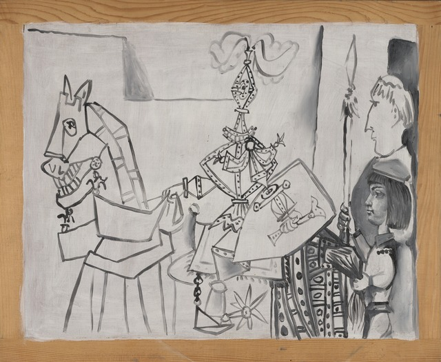 Pablo Picasso, 'Chevalier, Page et Moine (Horseman, Page, and Monk)', 1951, Yale University Art Gallery