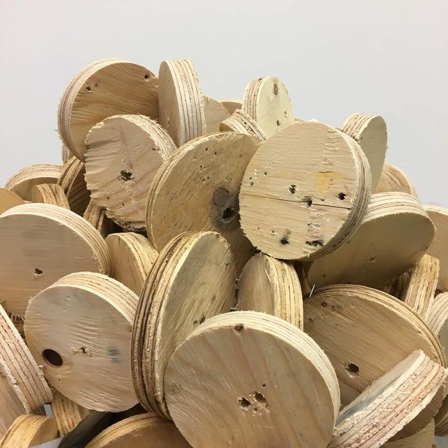 Robert Kananaj, 'Head of Circles (Wooden Head)', 2019, Robert Kananaj Gallery