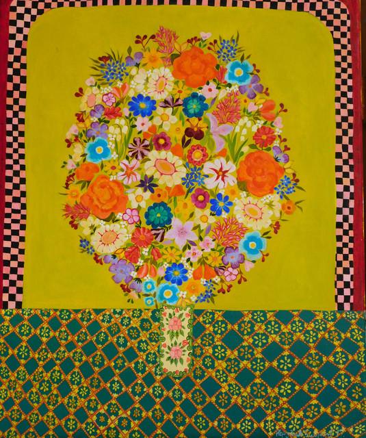 , 'Chartreuse flowers,' 2017, Rebecca Hossack Art Gallery