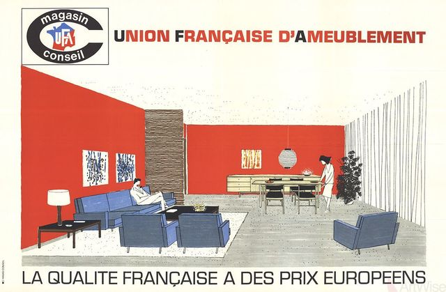 Havas Conseil, 'Union Francaise d'Ameublement', (Date unknown), Ephemera or Merchandise, Stone Lithograph, ArtWise