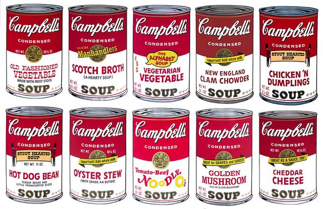 Andy Warhol, 'Campbell´s Soup II - Portfolio of 10', 1969, Rudolf Budja Gallery