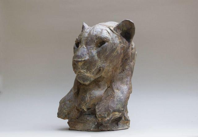 , 'Head of Male Leopard,' 2018, Galerie Bayart