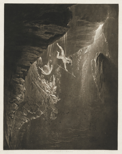 , 'The Fall of the Rebel Angels, Paradise Lost, Book 1, Line 44,' 1825, Clark Art Institute