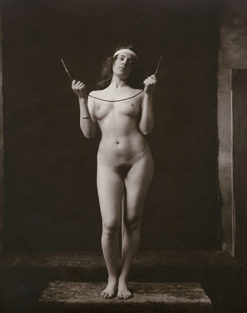 Anonymous Nudes, 'Standing Female Nude Holding Bent Metal Wire', 1912c/1912c, Contemporary Works/Vintage Works