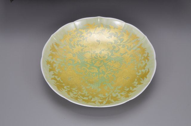 , 'Plate with peony and dry-grass patterns,' 2012, Onishi Gallery