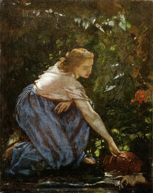 , 'Jeune fille au ruisseau (Young Girl at a Stream),' ca. 1852, Martin du Louvre