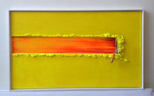 , 'TRUELLE ARRETEE , GESTE JAUNE ET ORANGE,' , Galerie Vivendi