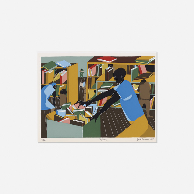 Jacob Lawrence, 'The Library', 1978, Wright