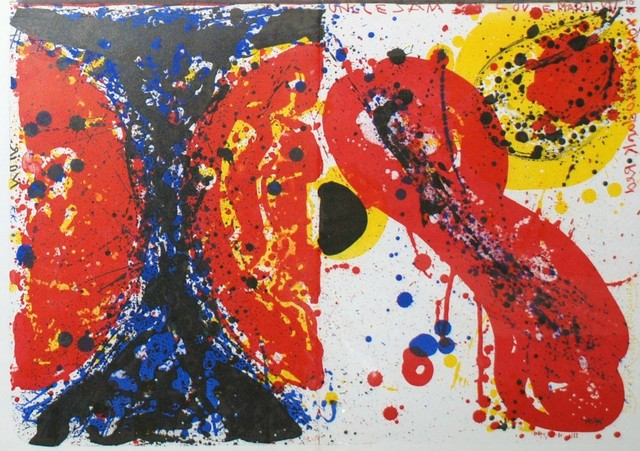 Sam Francis, '1¢ Life (Left) and Uncle Sam Loves Marilyn (Right)', 1964, Georgetown Frame Shoppe