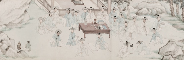 , '수계도 (Literati Gathering of the Middle People),' 1853, National Museum of Korea