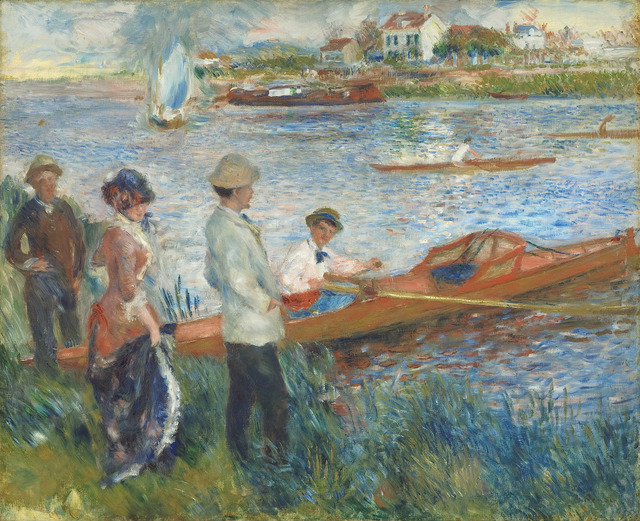 Pierre-Auguste Renoir, 'Oarsmen at Chatou', 1879, National Gallery of Art, Washington, D.C.