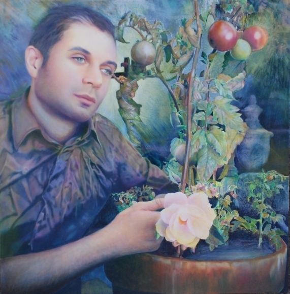 , 'Self Portrait with Tomatoes,' 2010, Mark Moore Fine Art