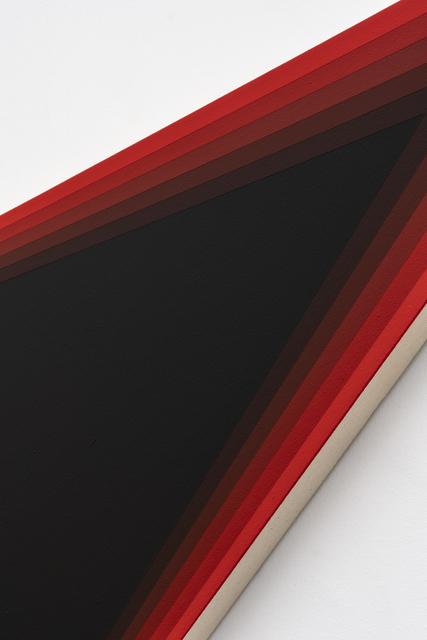 Philippe Decrauzat, 'Black Should Bleed to Edge (Red)', 2012, Galeria Nara Roesler