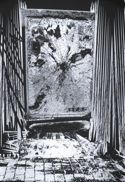 Santiago Cucullu, 'Potsdam Yeah Yeah', 2009, Print, Screenprint on Black Plike, Highpoint Editions