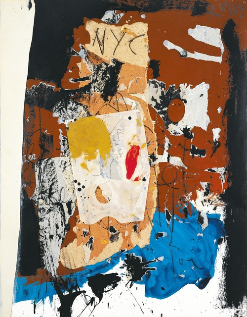 Robert Motherwell, 'New York City Collage', 1959, Mixed Media, Oil, pasted papers, and crayon on paper mounted on paperboard, Dedalus Foundation