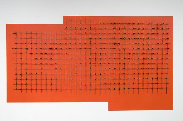 , 'Una Griglia su Arancio,' 2012, Magazzino