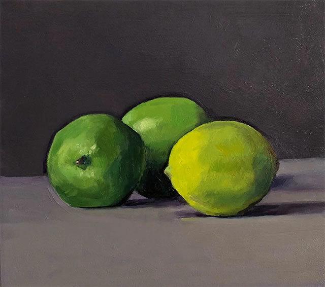 Dan McCleary, 'Three Limes', 2020, Painting, Oil on canvas, Craig Krull Gallery