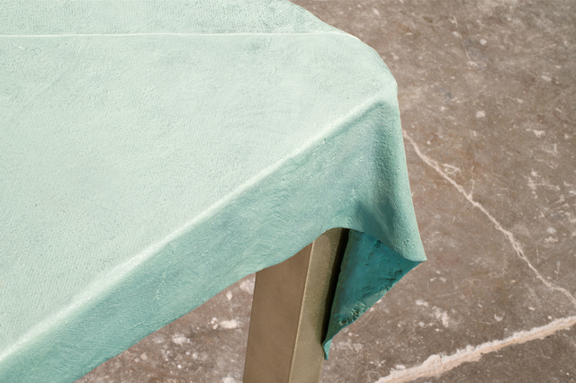Jens Praet, 'Dressed Table', 2012, Design/Decorative Art, Oxidized green patinated bronze, brushed brass