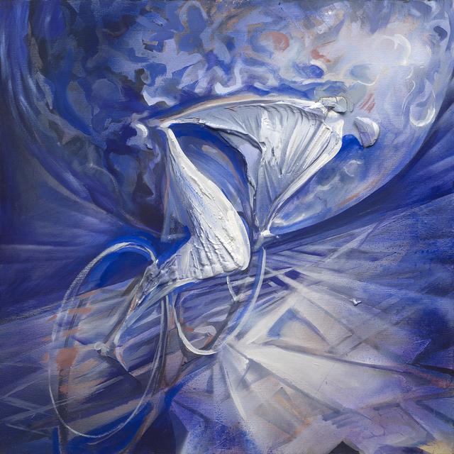 , 'Lunar cyclist,' 2017, Galleria Quadrifoglio