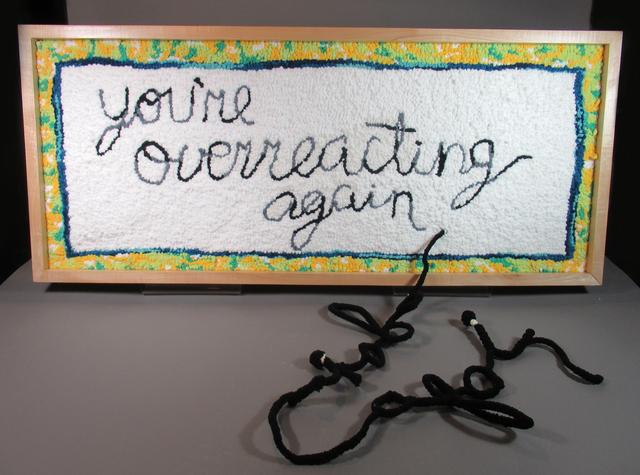 Danielle Hogan, 'You're Overreacting Again', 2020, Textile Arts, Wool, burlap, acrylic, cotton, wire, Gallery 78