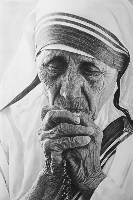 ", 'Mother Teresa ""Pray for us"",' 2017, Agora Gallery"