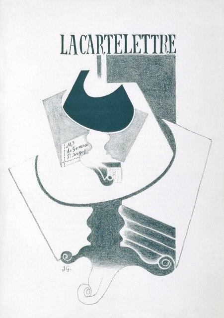 Juan Gris, 'Max Jacob, Ne coupez pas Mademoiselle ou Les Erreurs des P.T.T., Galerie Simon, Paris, 1921', Christie's