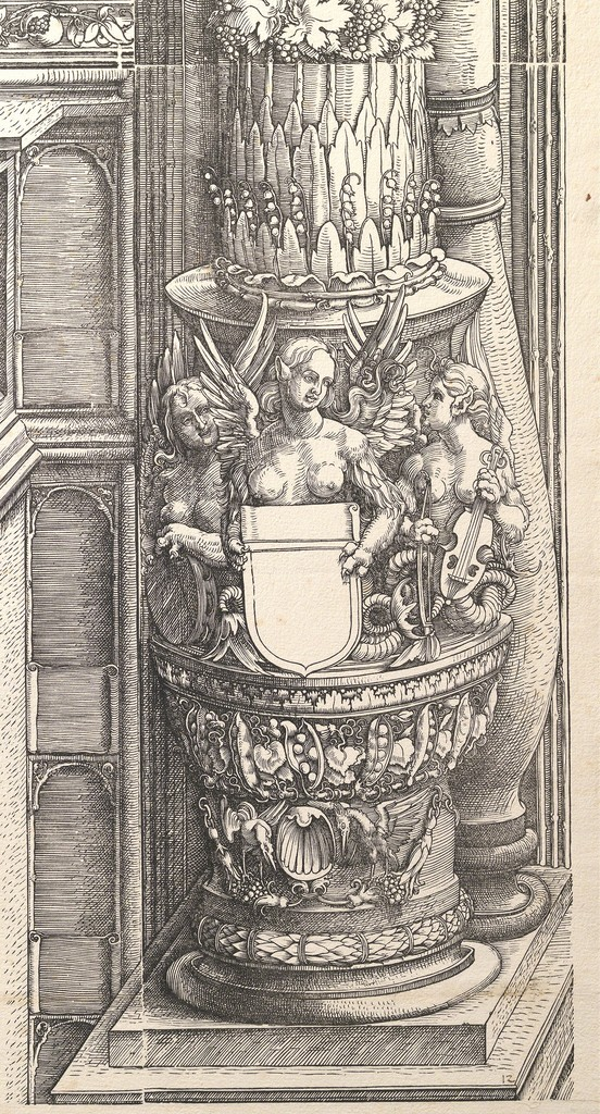 The Arch of Honour of Maximilian I (Detail), by Albrecht Dürer 1515