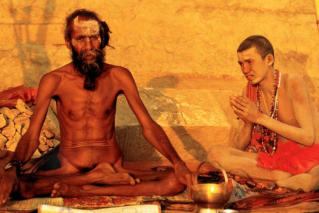 , 'Guru Darshan by Chela, Benares, India,' 1989, Octavia Art Gallery
