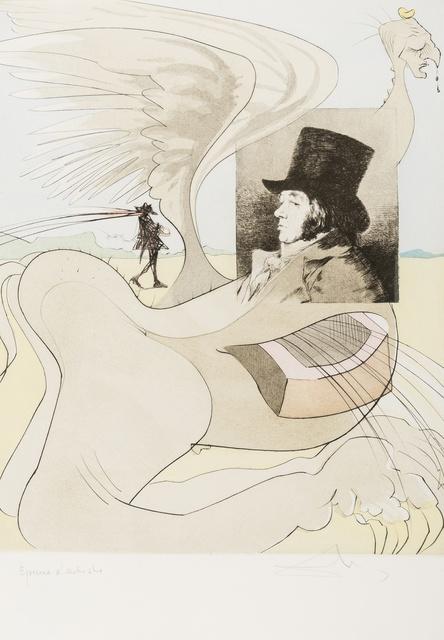 Salvador Dalí, 'Portrait of Goya (from Les Caprices de Goya de Dali) (Field 77-3-80; M & L 848b)', 1977, Forum Auctions