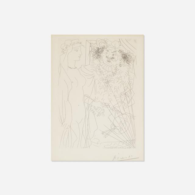 Pablo Picasso, 'Rembrandt et Femme au Voile from La Suite Vollard', 1934, Rago/Wright