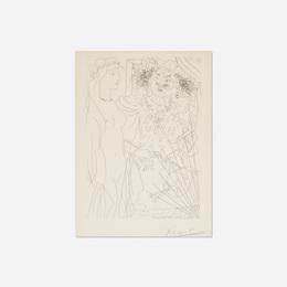 Rembrandt et Femme au Voile from La Suite Vollard
