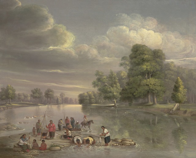 George Winter, 'Scene on the Wabash', ca. 1848, Indianapolis Museum of Art at Newfields