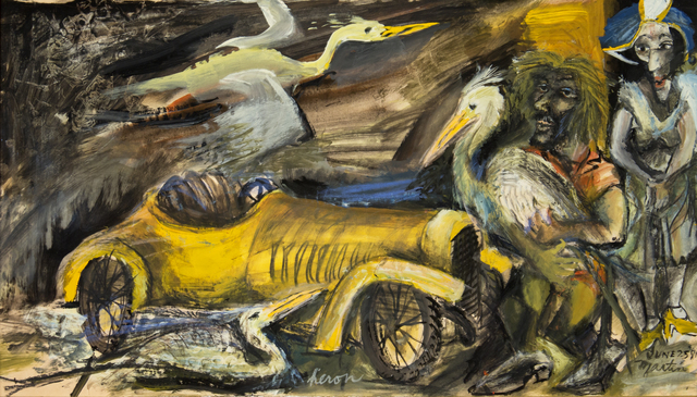 James Martin, 'Heron', 1981, Painting, Gouache on paper, Foster/White Gallery