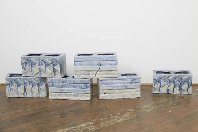 , 'Cinderblocks,' 2014, LMAKgallery
