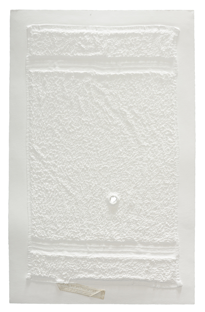 , 'Three Stripe Hand Towel with Hole and Unsewn Label,' 2016, Mixografia