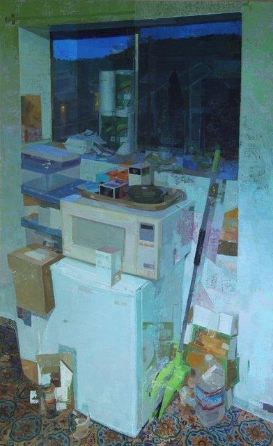 , 'Window at Night,' 2017, Alpha Gallery