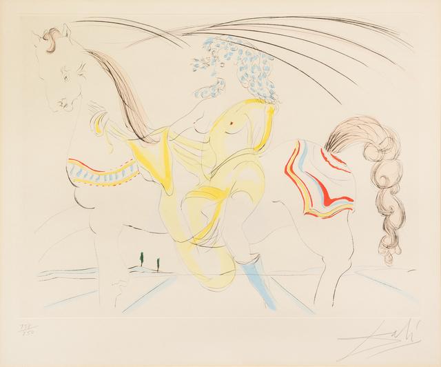 Salvador Dalí, 'Venus au Cheval', Print, Color etching, Hindman