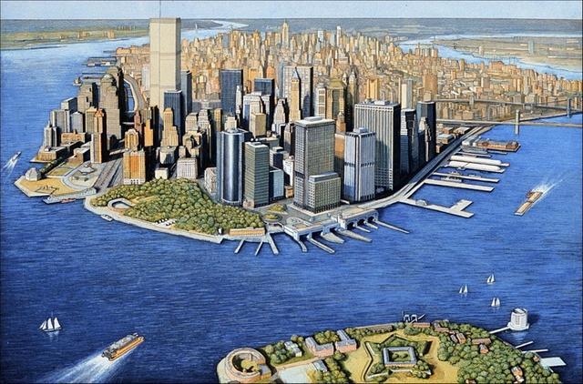 , 'Manhattan View, Governor's Island (Szoke 87, 89),' 1999, Alpha 137 Gallery