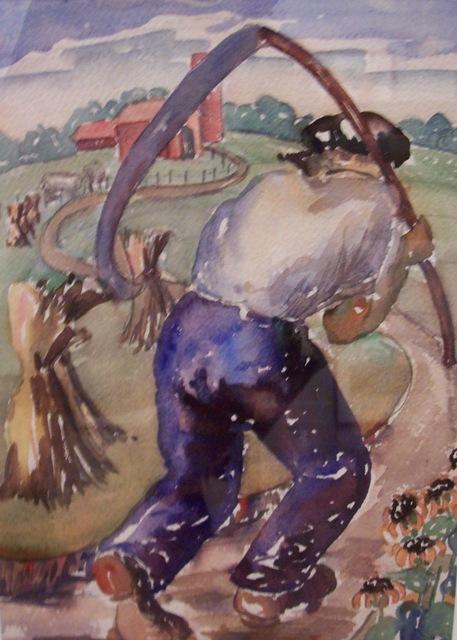 , 'Farmer with Scythe,' 1935, Susan Teller Gallery