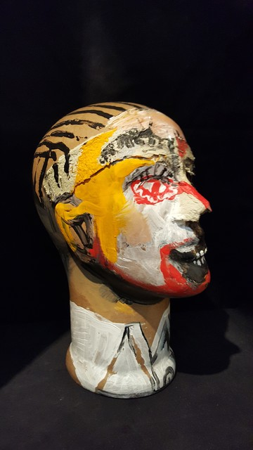Sergio Moscona, 'Side smile', 2012, Sculpture, Paper mâché and staples, Galerie Claire Corcia