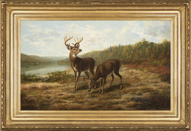 , 'Buck and Doe: October,' 1879, Godel & Co.