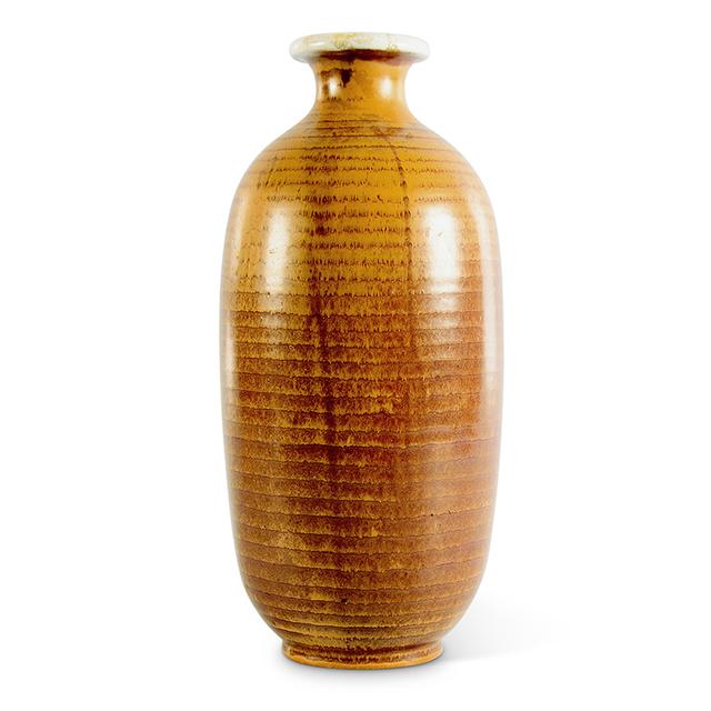 , 'Ridged bottle form vase in ochre,' 1930, Gallery BAC