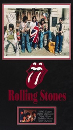 The Rolling Stones, A Signed Photograph