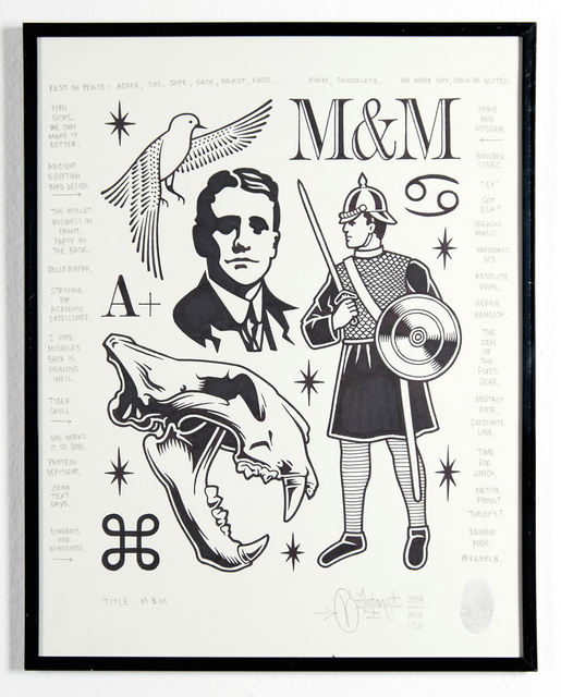 Mike Giant, 'M&M', 2014, Jonathan LeVine Projects